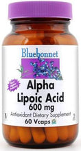 Load image into Gallery viewer, Bluebonnet Alpha Lipoic Acid 600mg 60 vcaps Front