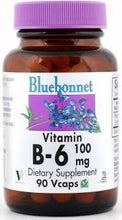 Load image into Gallery viewer, Bluebonnet B-6 100mg 90vcaps Front