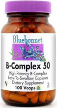 Load image into Gallery viewer, Bluebonnet B-Complex 50 100 vcaps Front