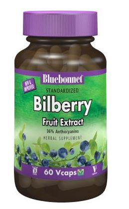 Bluebonnet Standardized Bilberry Fruit Extract 80mg 60 capsules