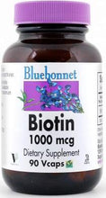 Load image into Gallery viewer, Bluebonnet Biotin 1000mcg 90 vcaps Front