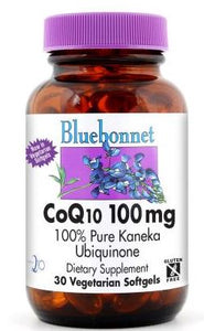 Bluebonnet CoQ10 100mg 60 softgels Front