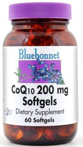 Bluebonnet CoQ10 200mg 60 softgels Front