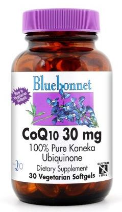 Bluebonnet CoQ10 30mg 90 softgels Front