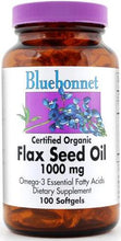 Load image into Gallery viewer, Bluebonnet Flax Seed Oil 1000mg 250 softgels Front