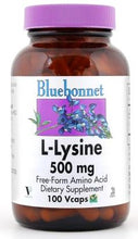 Load image into Gallery viewer, Bluebonnet L-Lysine 500mg 50 capsules