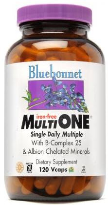 Bluebonnet Iron Free Multi One 90 capsules front