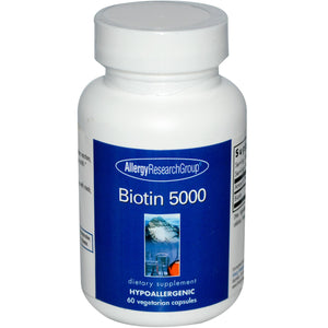 Allergy Research Group Biotin 5000 60 capsules Front