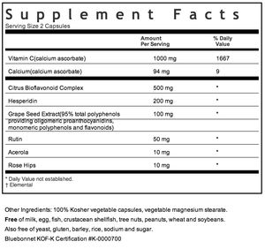 Bluebonnet Optimum C Formula Supplement Facts