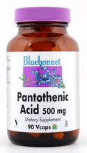 Load image into Gallery viewer, Bluebonnet Pantothenic Acid 500mg