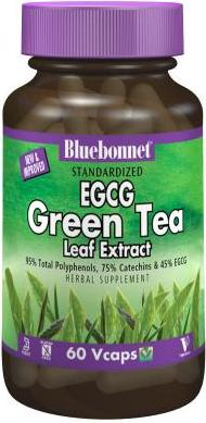 Bluebonnet Herbals Standardized Green Tea Extract 60 Capsules Front