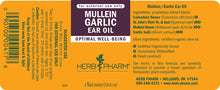 Load image into Gallery viewer, Herb Pharm Mullein Garlic Ear Oil Label