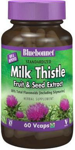 Bluebonnet Herbals Standardized Milk Thistle Extract 120 Capsules Front