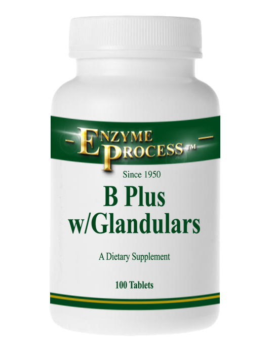 B-Plus W/Glandulars 100 Tablets | Enzyme Process