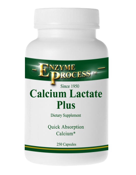 Calcium Lactate Plus 250 Capsules | Enzyme Process