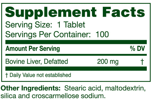 Liver Cytotrophin 100 Tablets | Enzyme Process