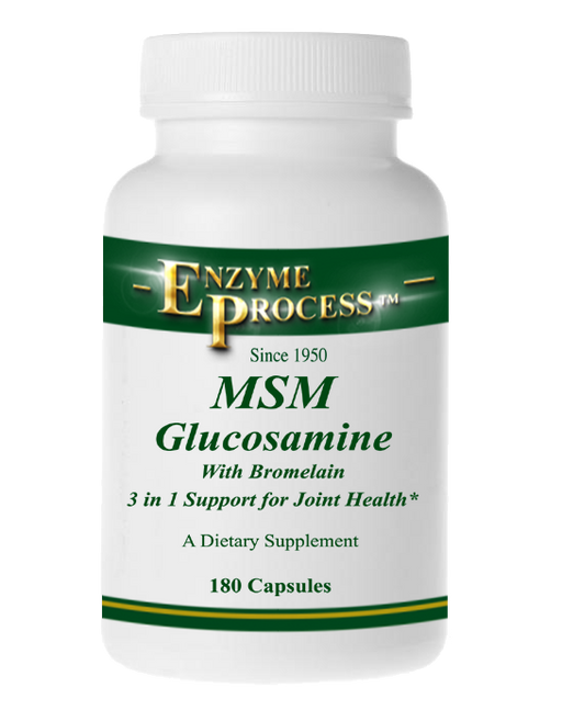 Msm/Glucosamine With Bromelain 180 Capsules | Enzyme Process