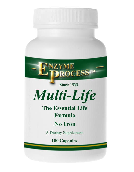 Multi Life 180 Capsules (Without Iron) | Enzyme Process