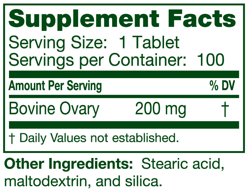 Ovary Cytotrophin 100 Tablets