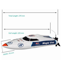 "Joysway Magic Vee Remote Control Micro 10"" Catamaran RC Racing Boat"