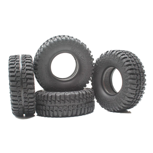 1.9 1:10 Scale RC Rock Crawler Tires & Foam 100mm x 39mm : Axial SCX10 D90 RC4WD