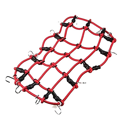 1:10 1:12 Scale RC Accessory Bungee Cord NET Cargo Net Roof Rack RED Tie Downs