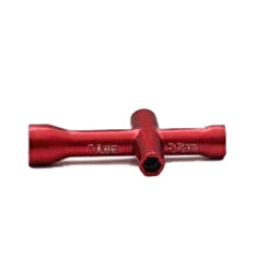 Small Hexagonal Wrench | 7.0mm x 5.5mm x 5mm x 4mm | Anodized Red