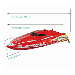 "Joysway Super Mono X Self Righting Brushless 17"" Remote Control RC Racing Boat 