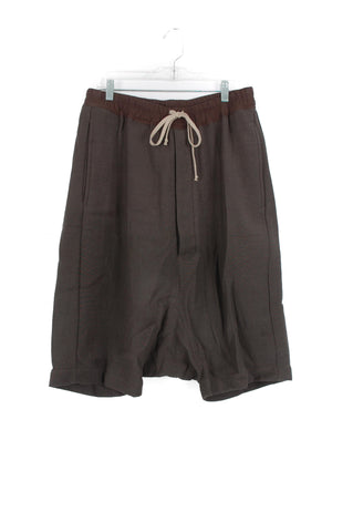 Rick Owens Grey Wool Pod Shorts