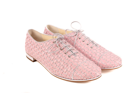Chanel Pink Straw Shoes