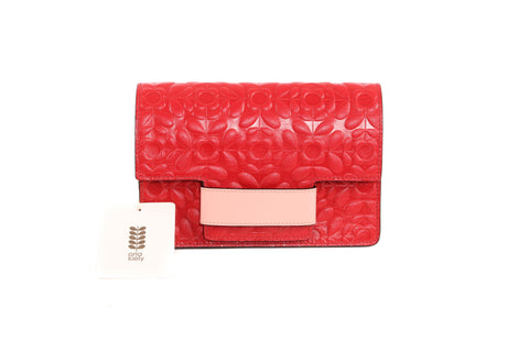 Orla Kiely Red Embroidered Bag