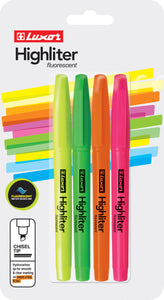 FLUORESCENT HIGHLIGHTER MULTICOLOR (4 PK BLISTER)