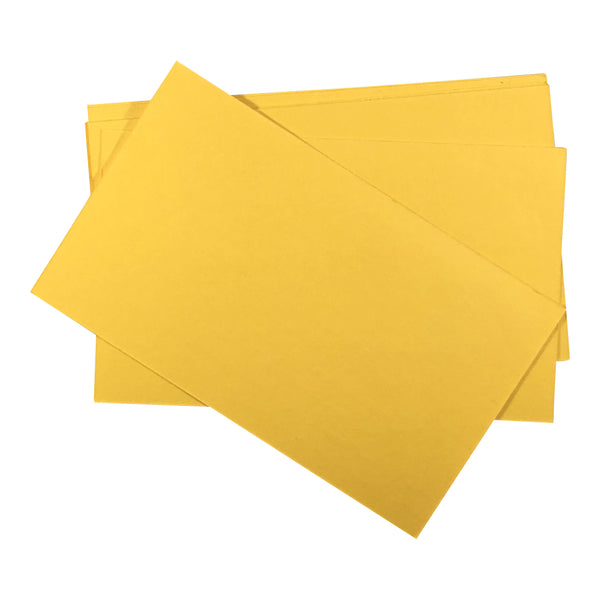 100 CT. 3 X 5, INDEX CARDS UNRULED, CANARY