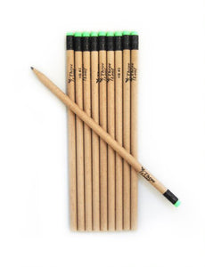 10-PK, #2 HB ECO FRIENDLY RECYCLED PAPER PENCILS WITH LATEX FREE ERASER, 72 packs