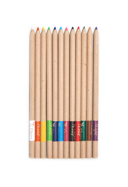 12-Pk Recycled Paper Colored Pencils, Pre-sharpened, 72 Packs