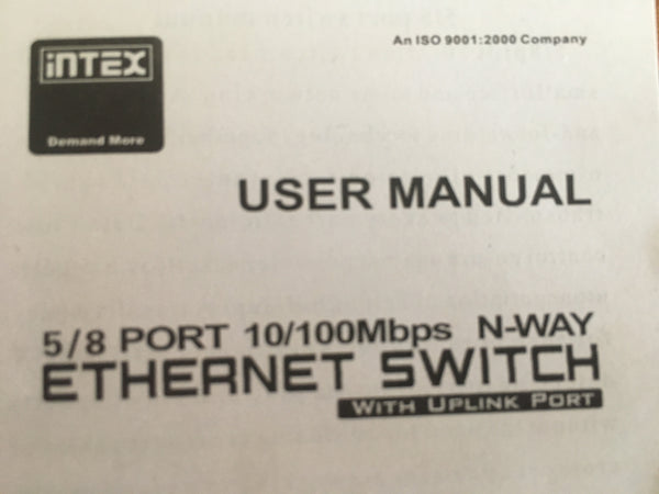 Neuf ethernet switch model IT 801 PP 5 PORT 10/100 Mbps LAN Hub prestadestock.com