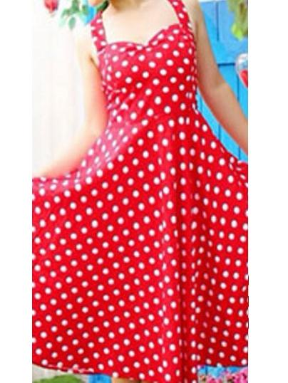 Polka Dot Halter Vintage Mini Dress