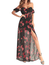 2018 New Chiffon Printed Irregular Maxi Dress