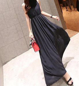 Summer Chiffon Sleeveless Bohemia Maxi Dress