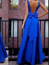 Sexy Spaghetti Strap Backless Solid Color Evening Gown Maxi Dress