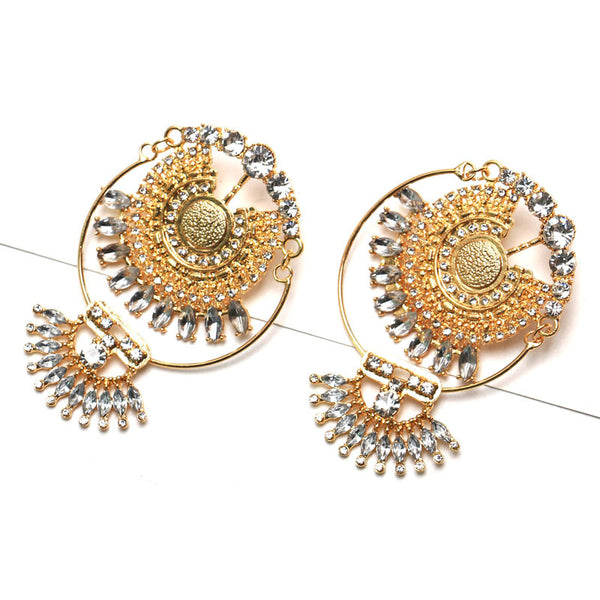 Exaggerated Fashion Vintage Alloy Diamond Earrings