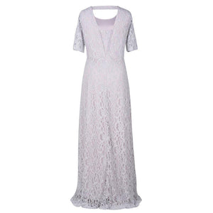 Lace Short Sleeve Fashion Evening Party Maxi Dress