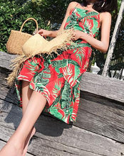 Print Spaghetti Strap Beach Dress