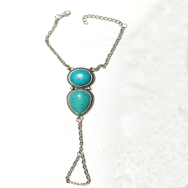 Bohemian jewelry beach simple ethnic turquoise chain bracelet jewelry