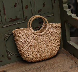 Straw Simple Casual Beach Travel Vacation Handbag