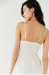Sexy Spaghetti Strap Backless Button Split Beach Dress