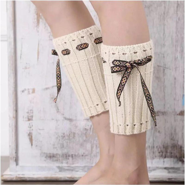 Boot cuff thick short-sleeved thick thick bamboo knit wool yarn socks - 7