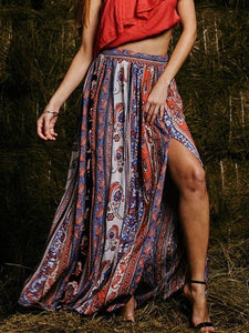 c38689575 Womens Gypsy Boho Beach Tribal Floral Skirt – Boholady