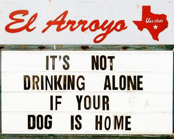 El Arroyo Drinking Alone Print