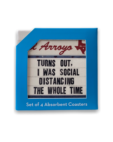 Coaster Set - Social Distancing